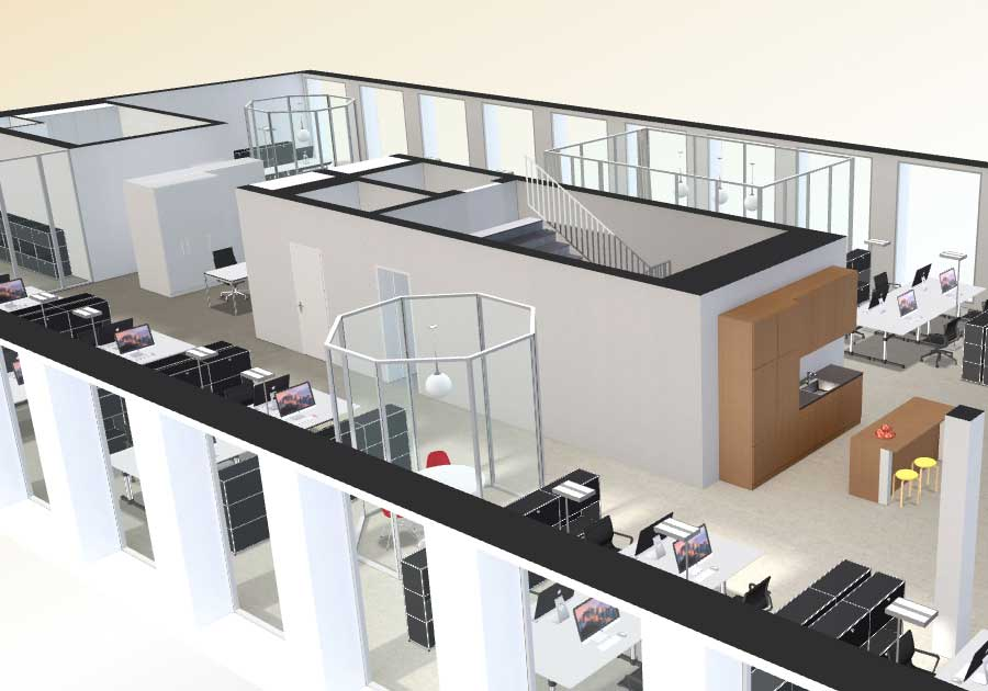Interactive floor plan 3d 3d floor virtual tour online india for Office design 3d