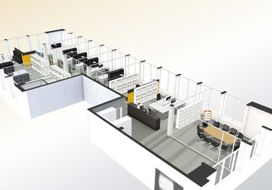 Interactive floor plan 3d 3d floor virtual tour online india for Interactive office floor plan