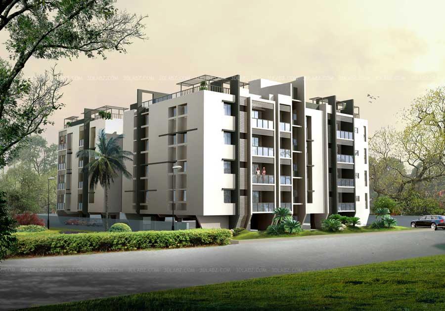 3D Rendering Exterior Work Samples India