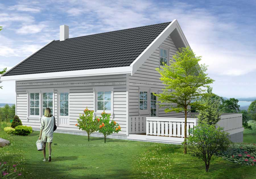 3d Visning Hus 3d Render Selskap Oslo Norge