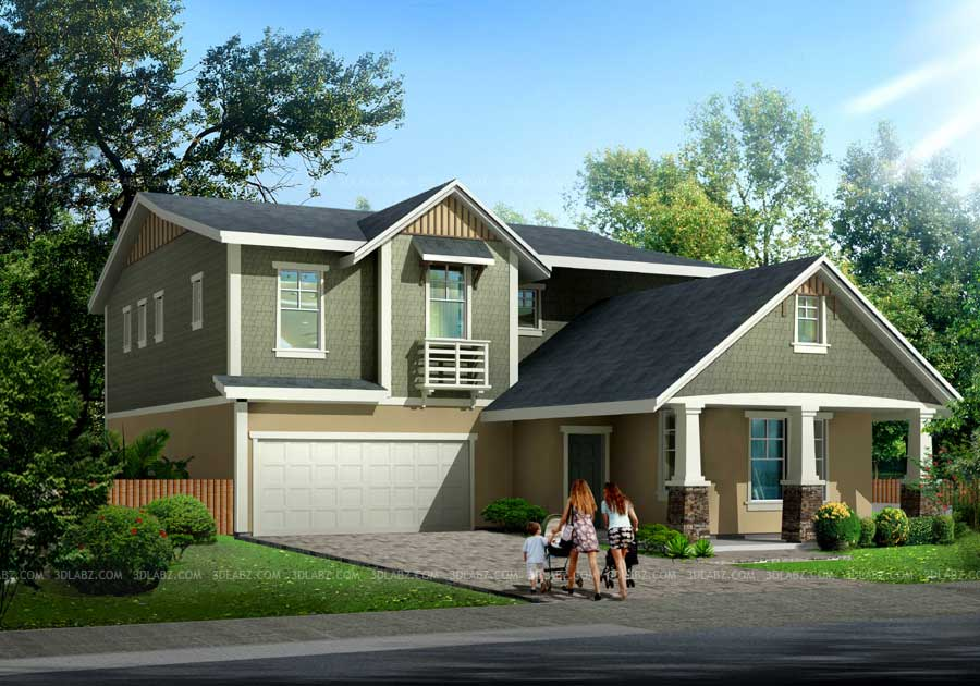 3d Rendering House House 3d View Rendering India