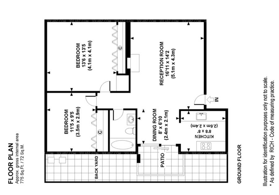 2d floor plan lake forest california