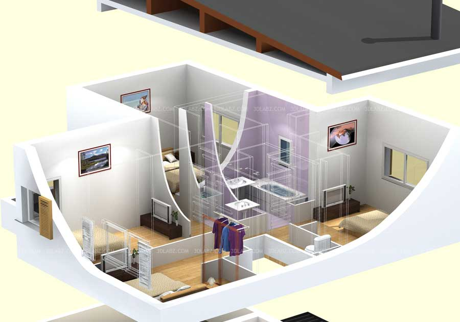 Marvelous 3D Floor Plan Drawing Nice Look