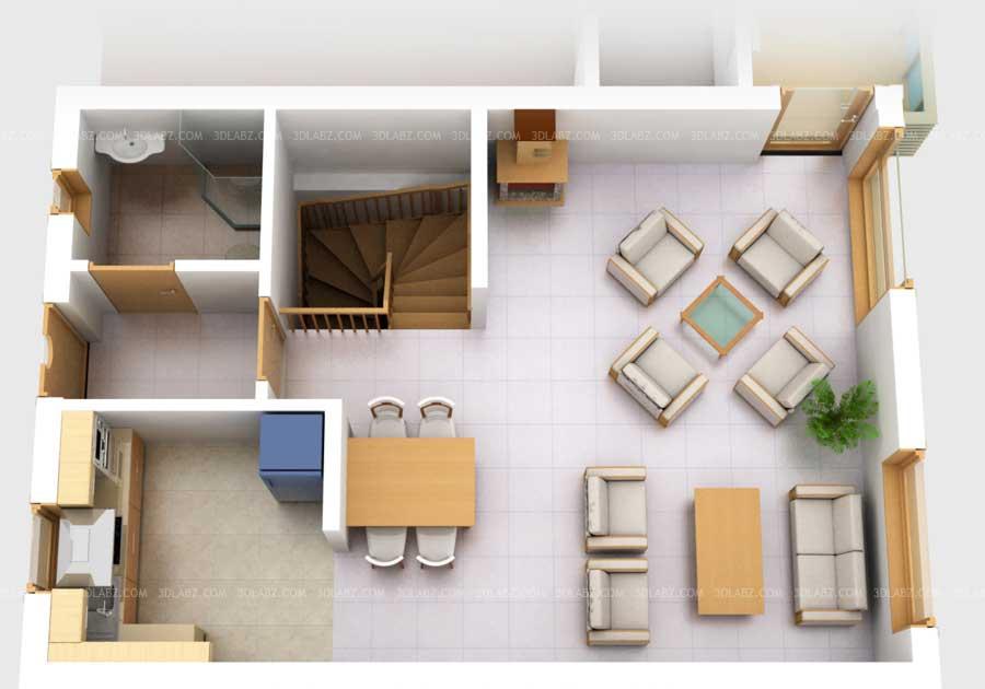 3D Floor Plan with Furniture 3D Floor Plan Norway
