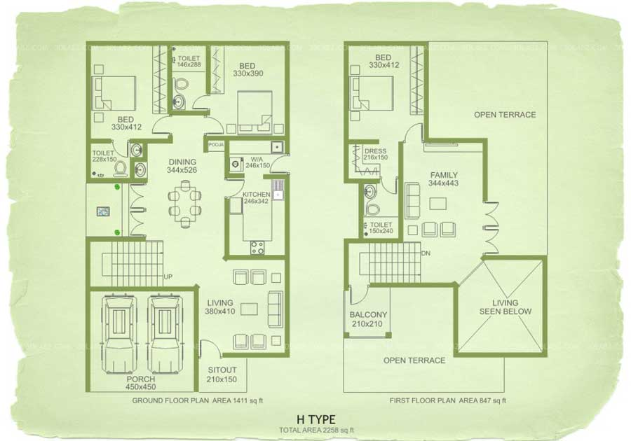 Floor plan 3d 2d floor plan design services in india for Apartment plans in india