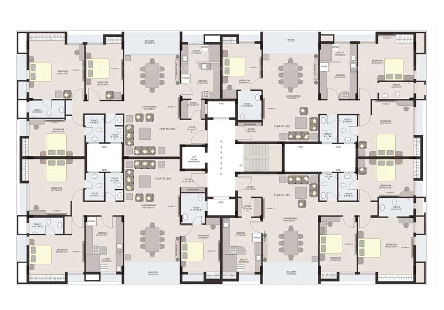 Apartment House Plans Designs Beauteous 2D Floor Plan Design And Drawing  Floor Plan Designer 2017