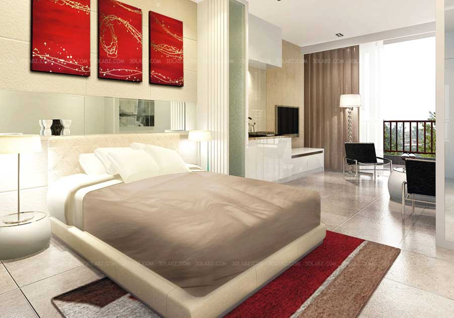 3d rendering thailand - 3d Design Bedroom