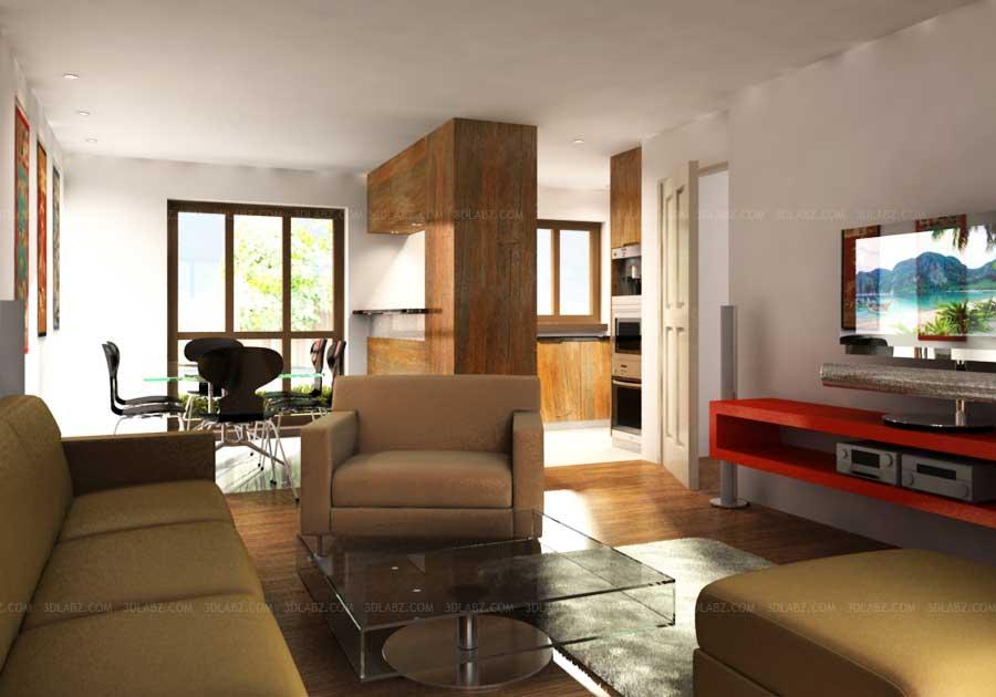 Apartment 3D Interior Design 3D Rendering London