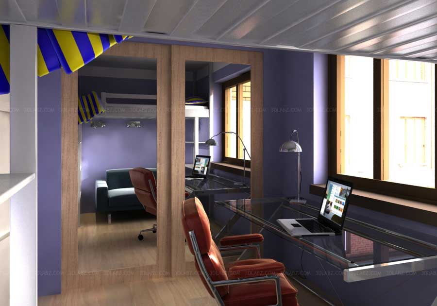 3d rendering office interior 3d design company ohio for Interior design companies in london uk