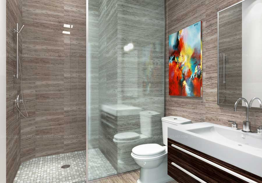 Bedroom 3d interior hotel interior design singapore for Bathroom designs 3d