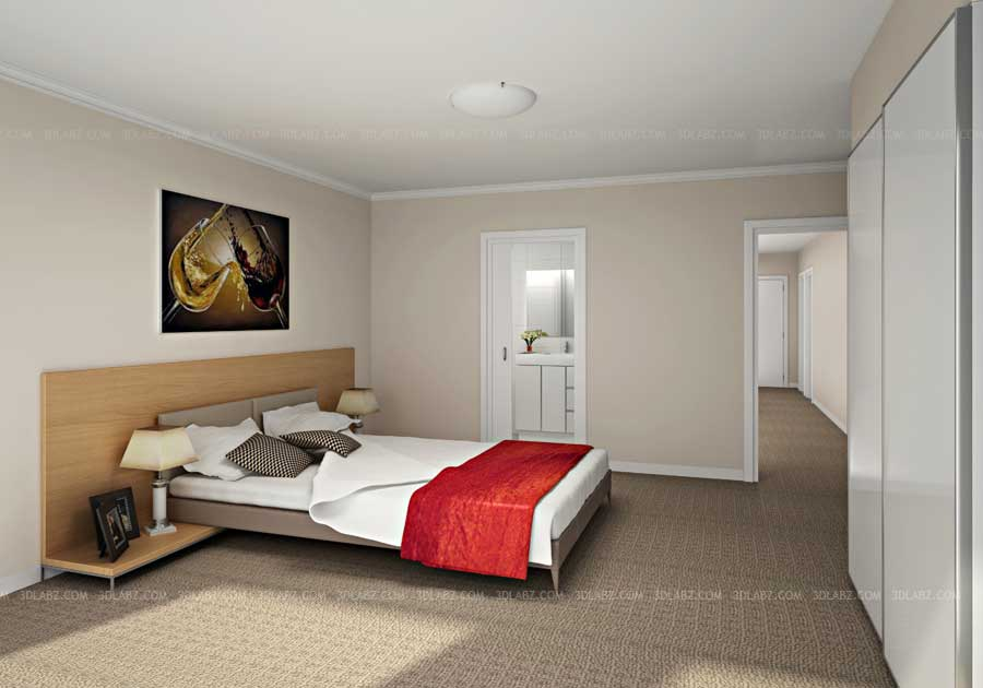 bedroom 3d view - 3d Design Bedroom