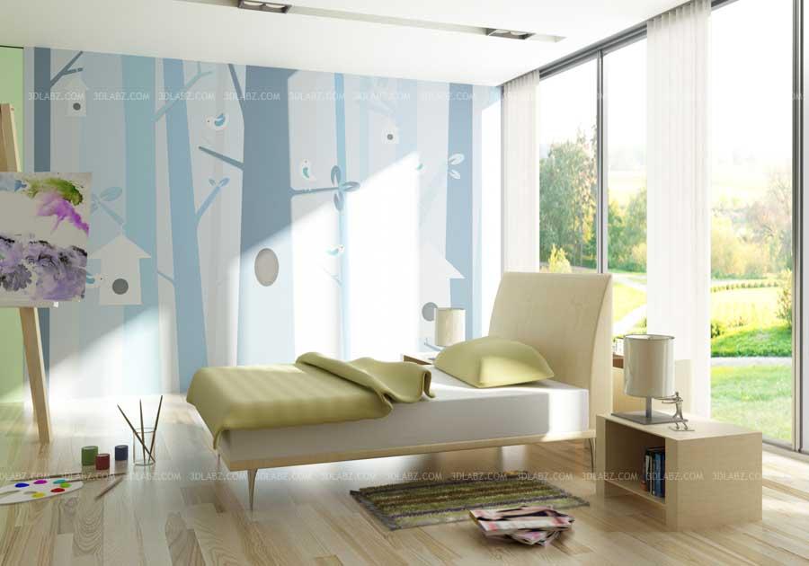 Children room interior design rendering munich germany for Interior design munich