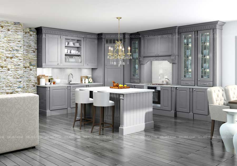 Kitchen 3D Rendering Design View Designer