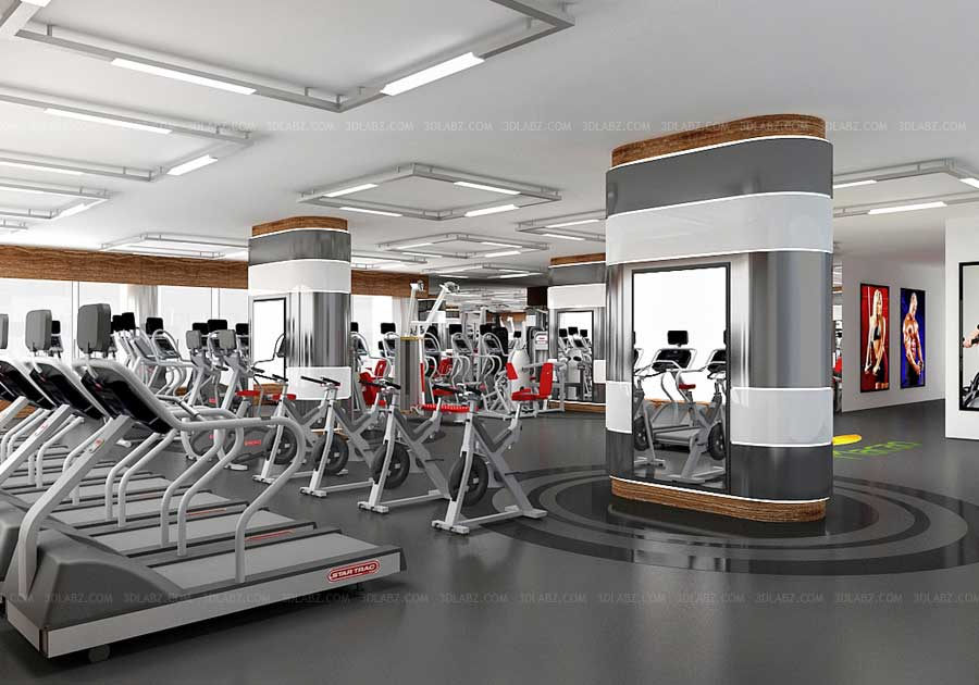 Gym 3d Interior Health Club 3d Rendering Company India