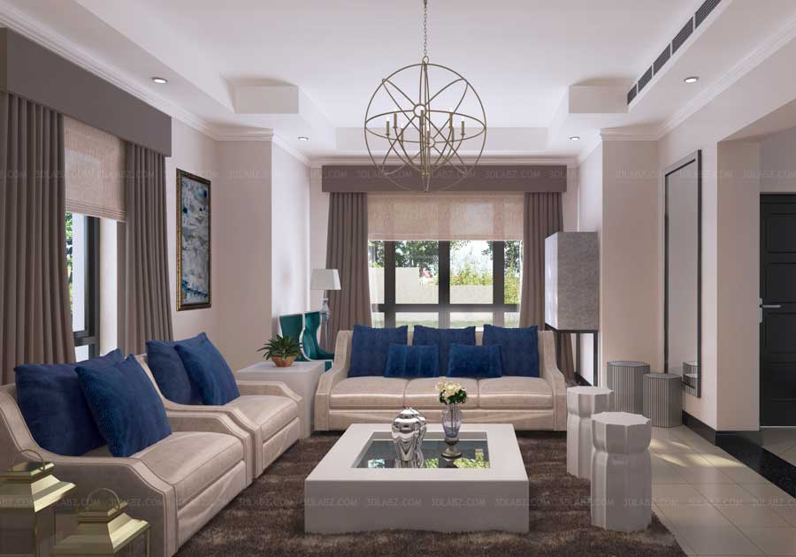 Interior design hospital hospital 3d design samples for Living room designs in dubai
