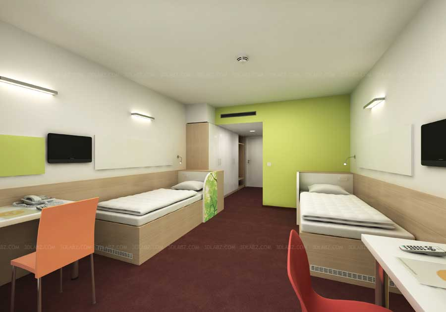 Interior design hospital hospital 3d design samples for Architecture and interior design