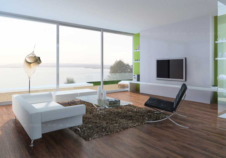 Interior design living room berlingen switzerland for Living room 3d view