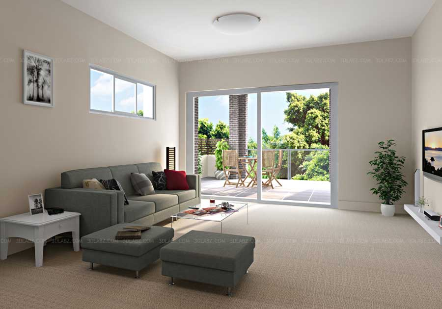3d visualization sydney australia living room 3d Interior design visualization
