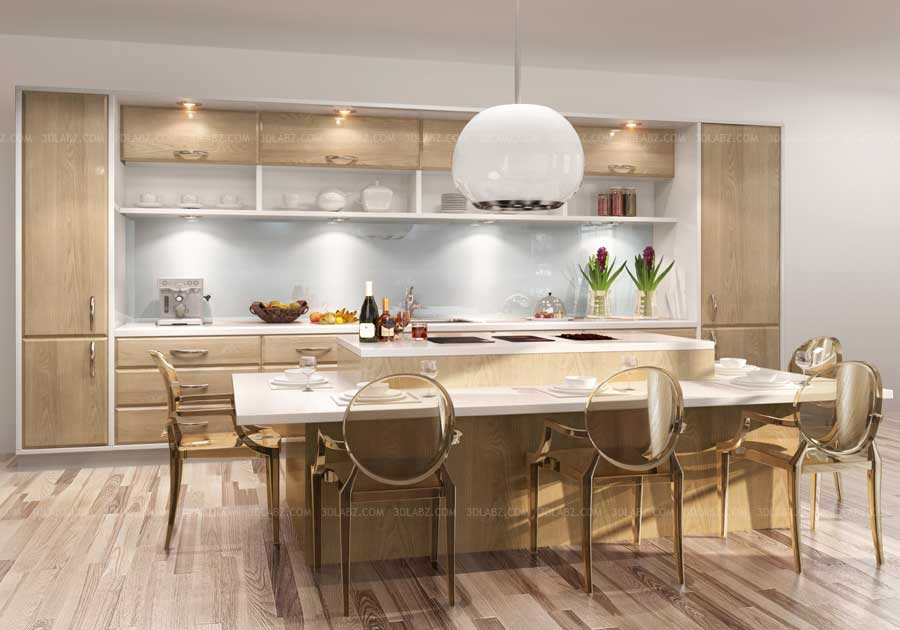 Kitchen 3D View Price|Cost Kitchen 3D Design and Rendering ...