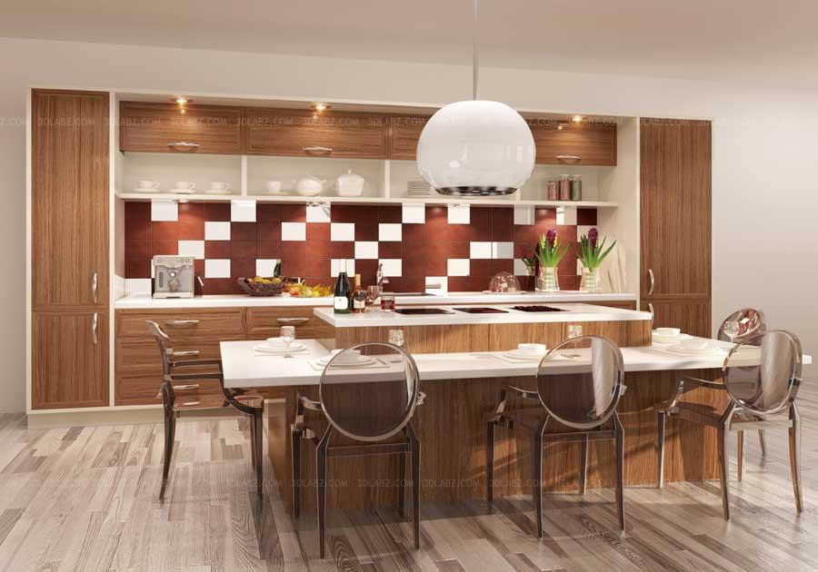 Kitchen Interior 3D Design Bangalore India