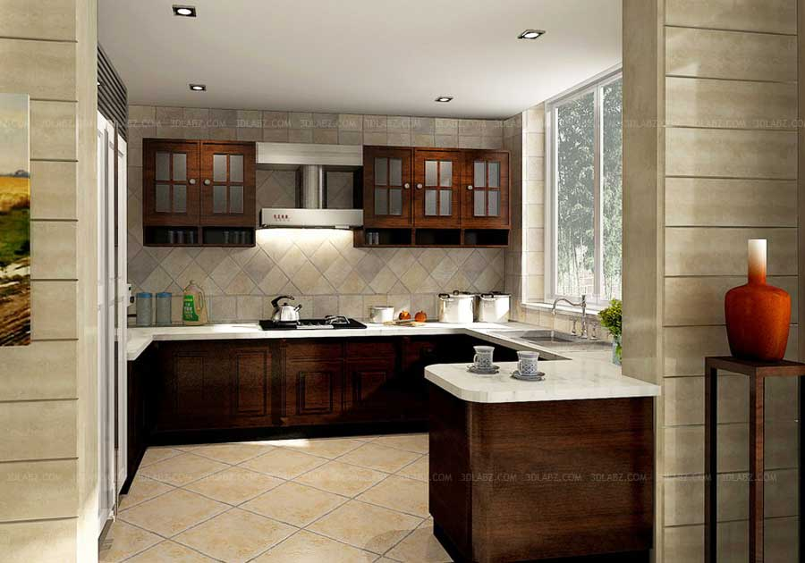 Kitchen 3d rendering kitchen design 3d view designer Kitchen design mumbai pictures