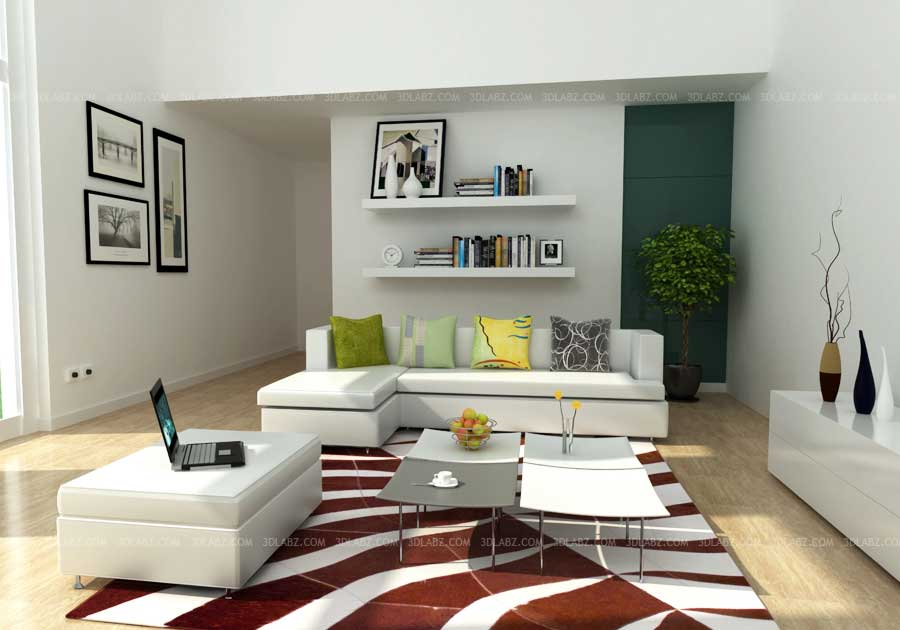 Living Room Interior 3D Design