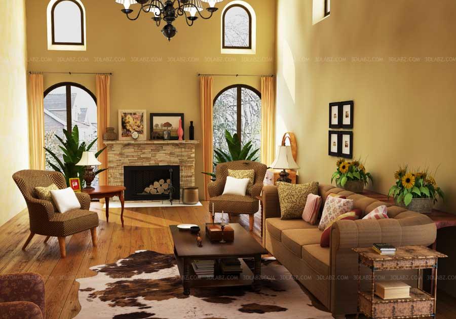 Living Room Interior Decor Price 3D Design São Paulo, Brazil