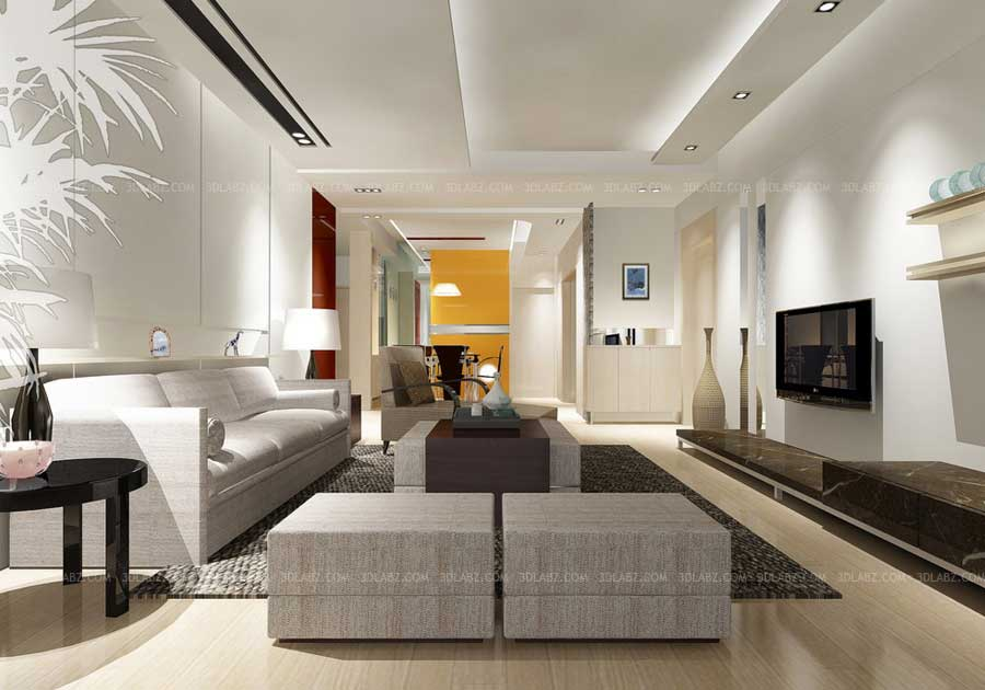 3d interior works and design companies in dubai for 3d max interior living room