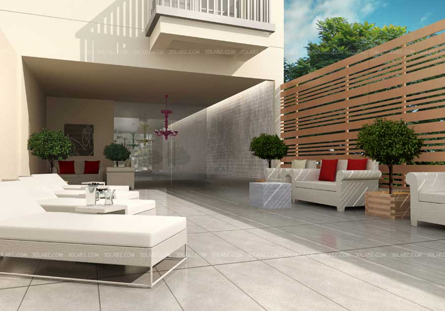 Store 3d interior shop 3d interior rendering india for Terrace kitchen garden india
