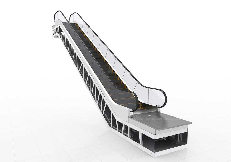 Kone Escalator 3D Design| 3D Rendering Escalator,Dubai