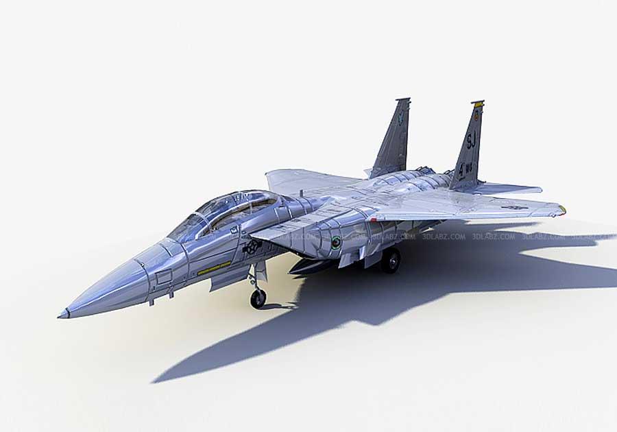 Fighter Plane 3D Rendering | Plane 3D Model and Design